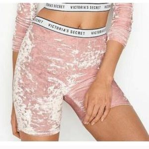 Victoria's Secret crushed velvet shorts